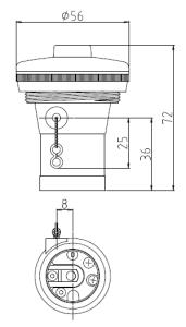 1号型ペンダントソケット 図面