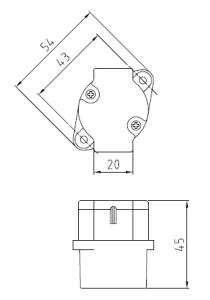 26DLソケット2型 図面