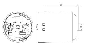 コード収納フレンジ 図面