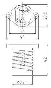 ホルダー17ソケット2型 図面
