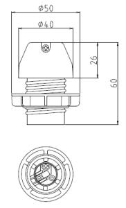 ホルダー型17ソケットA 図面