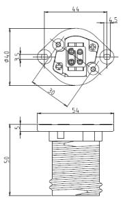ホルダー26ソケット2型 図面