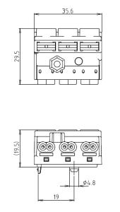 速結端子台L-2E 図面