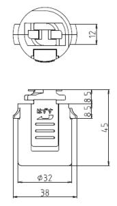 ダクトプラグ2P 図面