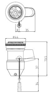 ホルダー型2号プルソケット 図面