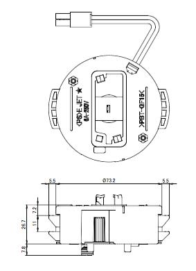 ワンタッチアダプター7型Nロック付 図面