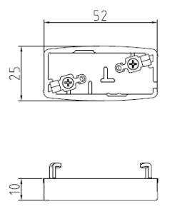 薄型引掛プラグ2型 図面