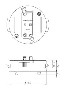 ワンタッチアダプター11型WN 図面
